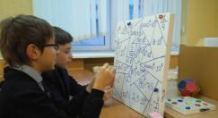 Занятие в школе юных математиков на физмате БГПУ
